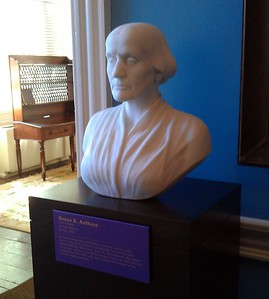 Bust of Susan B. Anthony, at the Sewall-Belmont House & Museum (8/20/11)