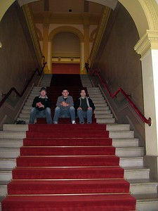 On the stairs of the Smithsonian American Art Museum's Renwick Gallery (4/3/11)