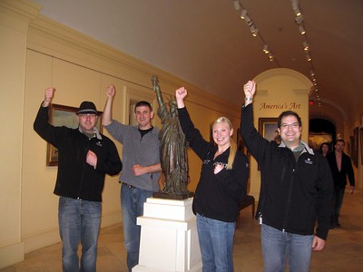 With Liberty, by Statue of Liberty designer Frédéric Auguste Bartholdi (ca. 1884), at the Smithsonian's American Art Museum. (4/3/11)