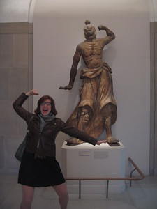 Asha strikes a pose, at the Smithsonian's Freer Gallery of Art (3/13/11)
