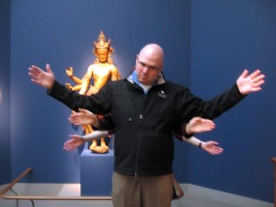 In front of Bodhisattva White Avalokiteshvara, at the Smithsonian's Freer Gallery of Art (3/13/11)