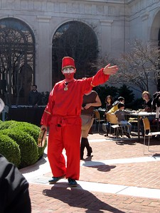 A clown performs as part of a celebration of Nowrūz, in the courtyard of the Smithsonian's Freer Gallery of Art (3/13/11)