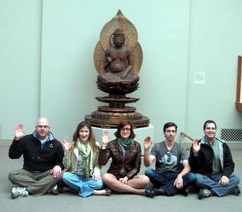 In front of Bosatsu, at the Smithsonian's Freer Gallery of Art (3/13/11)