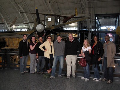 In front of a Curtiss P-40 Warhawk, at the Smithsonian's National Air and Space Museum Steven F. Udvar-Hazy Center (3/20/11)