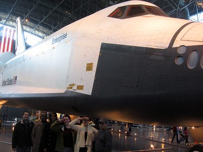 In front of Space Shuttle Enterprise, at the Smithsonian's National Air and Space Museum Steven F. Udvar-Hazy Center (3/20/11)