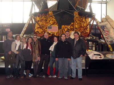 In front of an Apollo Lunar Module, at the Smithsonian's National Air and Space Museum (2/26/11)