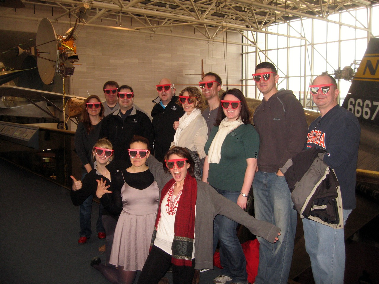 Just after watching Hubble 3D in IMAX 3D, at the Smithsonian's National Air and Space Museum. The Spirit of St. Louis is on the left. (2/26/11)