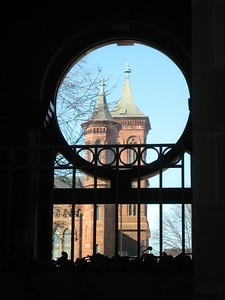 View of the Smithsonian Institution Building from the National Museum of African Art (3/13/11)