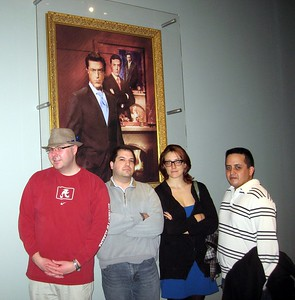 In front of Stephen Colbert's portrait at the Smithsonian's National Museum of American History (2/20/11)