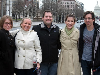 On the way to the Smithsonian's National Museum of Natural History, with the U.S. Capitol in the background (3/6/11)