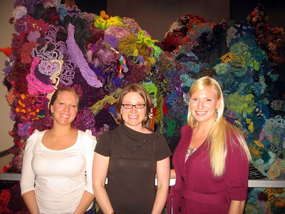 In front of The Hyperbolic Crochet Coral Reef, in the Sant Ocean Hall at the Smithsonian's National Museum of Natural History (3/6/11)