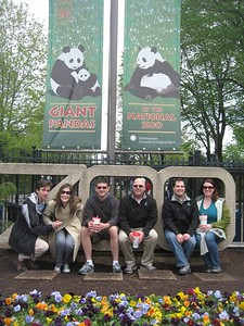 At the entrance to the Smithsonian's National Zoological Park (4/23/11)