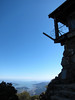 The San Francisco Bay beneath the ramparts of the East Peak fire lookout.