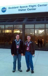 Craig (l) and Rob at NASA's Goddard Space Flight Center