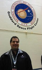Craig in a vibration testing chamber at NASA's Goddard Space Flight Center