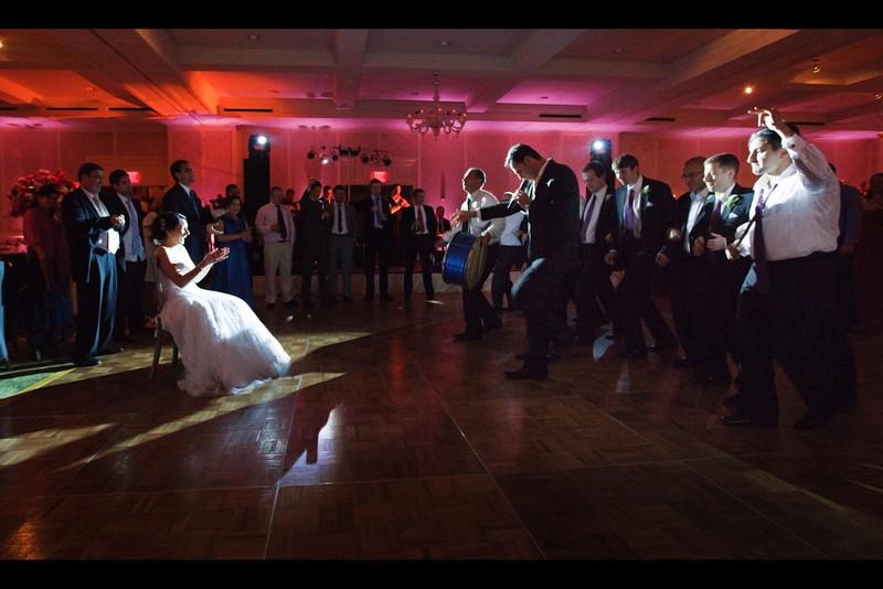 nadine serenaded by groom and groomsmen 2