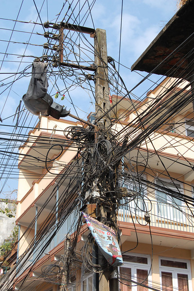 The obligatory picture of wiring in a South Asian country. (Kathmandu)