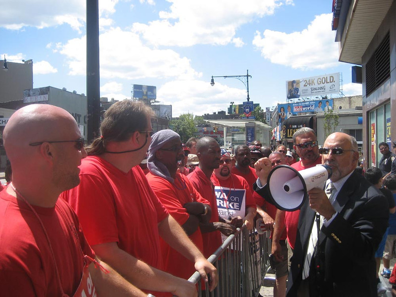 Assemblyman Mike Benedetto visits the line in the Bronx.
