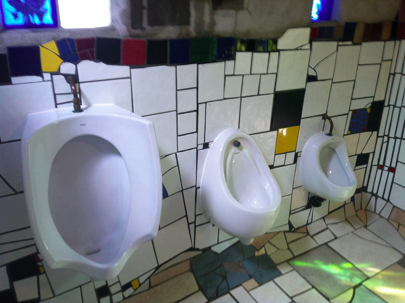Hundertwasser toilets, Kawakawa