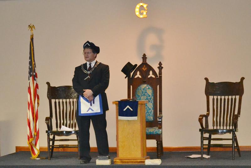WM Bruce Mueller before re-dedication of NE Lodge #210  5.5.2012