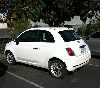 The car.  Yes, a Fiat 500.  Hilarious - it got us lots of looks.