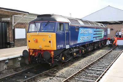 47818 running round at Great Yarmouth.