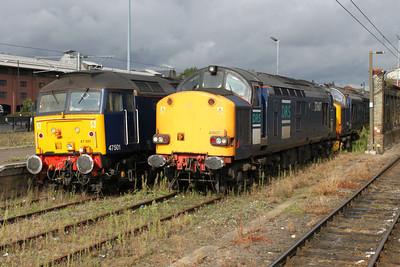 47501 37607 37667 in Norwich Station sidings.