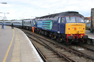 47818-90013 on arrival at Great Yarmouth with the 1v43 service.