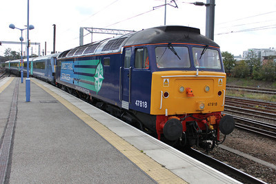 47818 Drags 82121_90003 from Gt Yarmouth to form 1130 Norwich-Liv.St