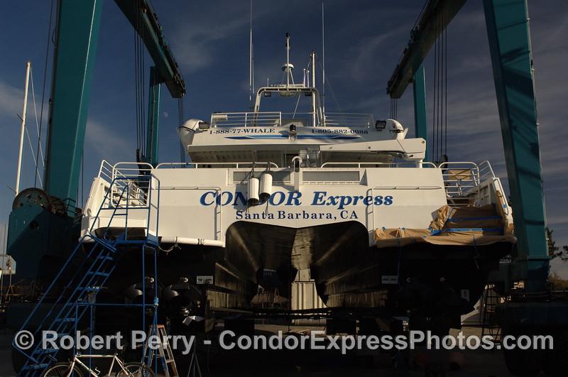 Condor Express in boat yard 2011 12-04 Ventura Hbr - 007