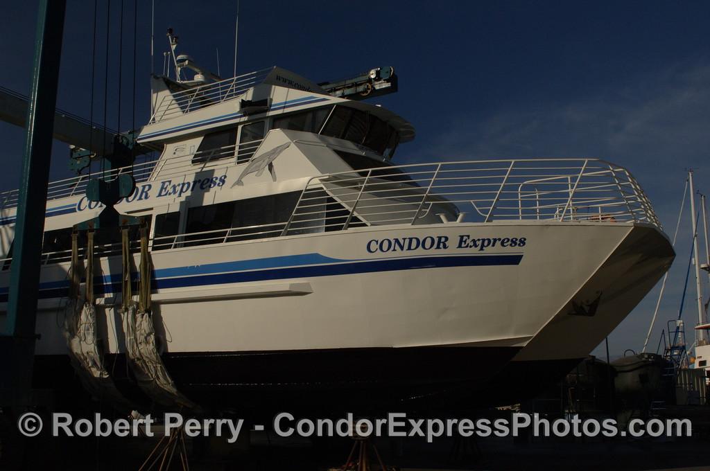 Condor Express in boat yard 2011 12-04 Ventura Hbr - 066