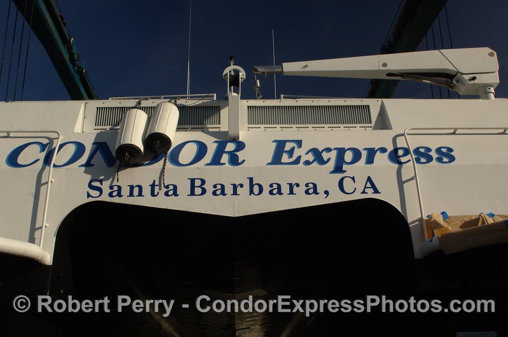 Condor Express in boat yard 2011 12-04 Ventura Hbr - 034