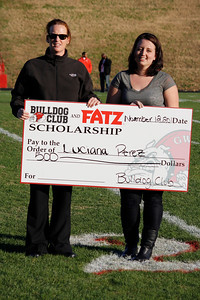 Luciana Perez won the Bulldog Club and Fatz $500 scholarship