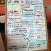 MENU: Detail photo of Stella's Cafe menu.