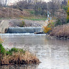 Tribune-Star/Jim Avelis<br /> Waste water:  Water from the Hoosier Energy generating plant near Merom flows into the north end of Turtle Creek reservoir.