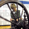Spinning: Jeanette Huisinga works her spinning wheel at the Business Expo at Martinsville High School Sunday afternoon.