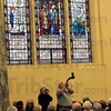Call to Worship: The Blowing of the Shofar calls those in attendance to Worship Sunday afternoon at St. Joseph's Catholic Church.