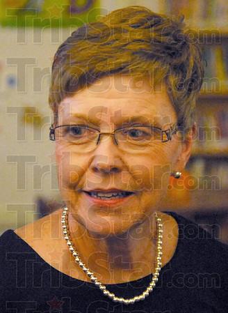 Food drive: Terre Town principal Cinda Taylor.