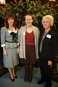 Pamela Deck, Jessica Greer, Doris Deck. Scholarship Luncheon at Gardner-Webb University.