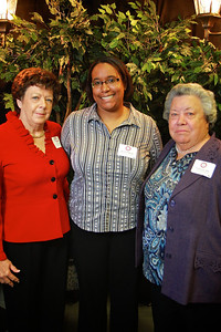 Kayla Williams, Vertie Lee Sain, Lois Norman. Scholarship Luncheon at Gardner-Webb University.