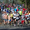 Classic run: Runners start the 10K trail run at Hawthorne Park Saturday morning.