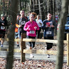 10K trail run: Runners navigate through Hawthorne Park Saturday morning.