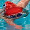 Tribune-Star/Joseph C. Garza<br /> Underwater view: Terre Haute North's Alex Nichols appearance is distorted by the water as she competes in the 110-yard freestyle race Saturday at North.