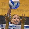 Tribune-Star/Jim Avelis<br /> Bright future: Senior Staci Qualizza sees a bright season ahead for her Indiana State University volleyball team.