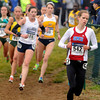 Tribune-Star/Joseph C. Garza<br /> On her heels: Southern Methodist University's Silje Fjortoft (542) maintains a slight lead over eventual winner, Sheila Reid, of Villanova during the women's race of the NCAA cross country championships Monday at the Lavern Gibson Championship Cross Country Course.
