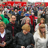 Cola crowd: Thousands were in attendance at Monday's celebration on the grounds of City Hall and the Vigo County Courthouse.