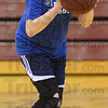 Tribune-Star/Jim Avelis<br /> Still going: Lori Kline plays basketball regularly on her lunch breaks at Rose-Hulman.