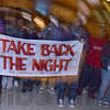 Tribune-Star/Jim Avelis<br /> Strength: Marchers leave the student union building for their march around campus  in their effort to bring awareness to the problem of domestic violence.