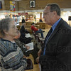Tribune-Star/Jim Avelis<br /> Supporter: Diane Brentlinger chats with Fed Nation just before Tuesday's mayoral debate.
