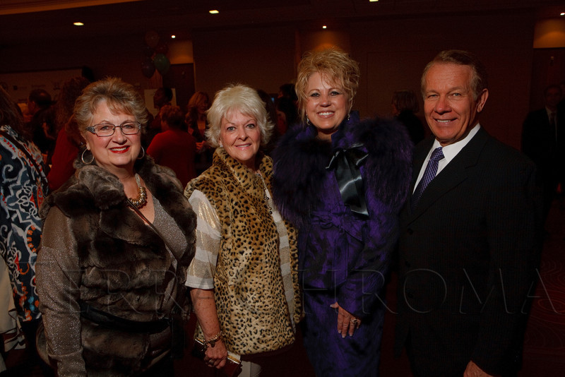 (Denver, Colorado, Nov. 1, 2011)<br /> Jill Behr, Helen Hanks, and Judy and Charlie McNeil.  The 2011 Brass Ring Luncheon, benefiting The Guild of the Children's Diabetes Foundation at Denver, at the Denver Marriott City Center in Denver, Colorado, on Tuesday, Nov. 1, 2011.<br /> STEVE PETERSON